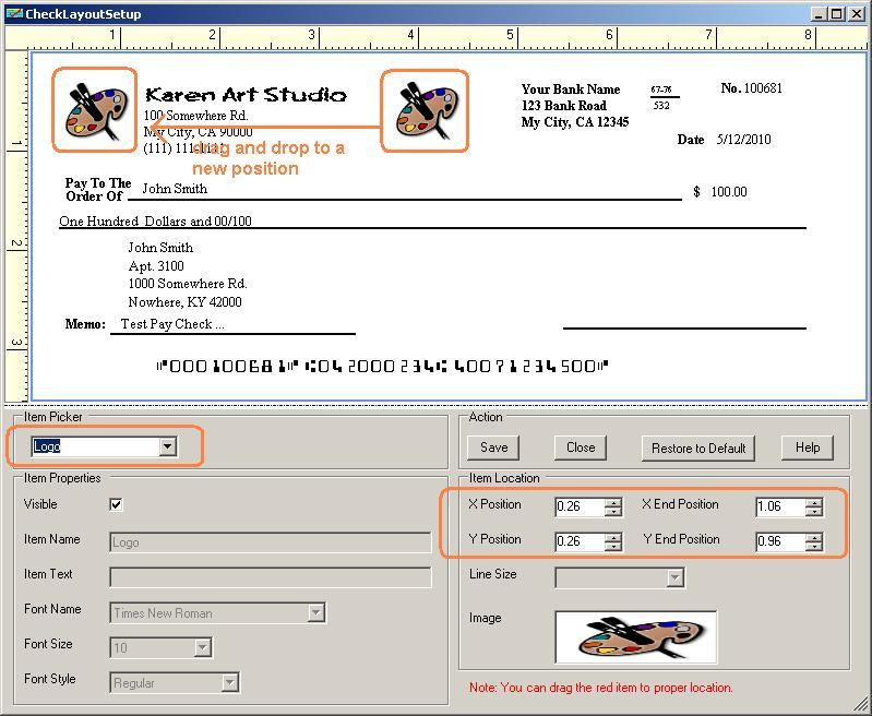 User Can Customize Any Field On Check With Ezcheckprinting Will Allow Printed Professional Logo And Signature In