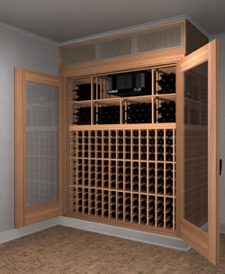 Custom Wine CabinetUnique and Beautiful Custom Wine Cabinet & Introducing Space-Saving Custom Built-In Wine Cabinets with Wine ...