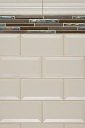 Grey White Tiles Kitchen