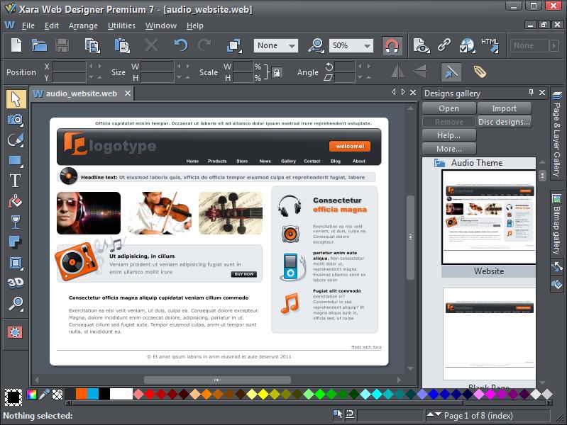 Xara Releases New Web Designer 7 And Web Designer 7 Premium