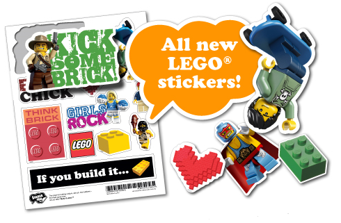 Stickeryou works with lego to offer custom stickers with legoget custom lego stickers from www stickeryou com