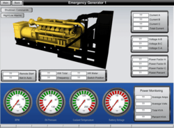 BAS Graphic Shows Emergency Generator Function