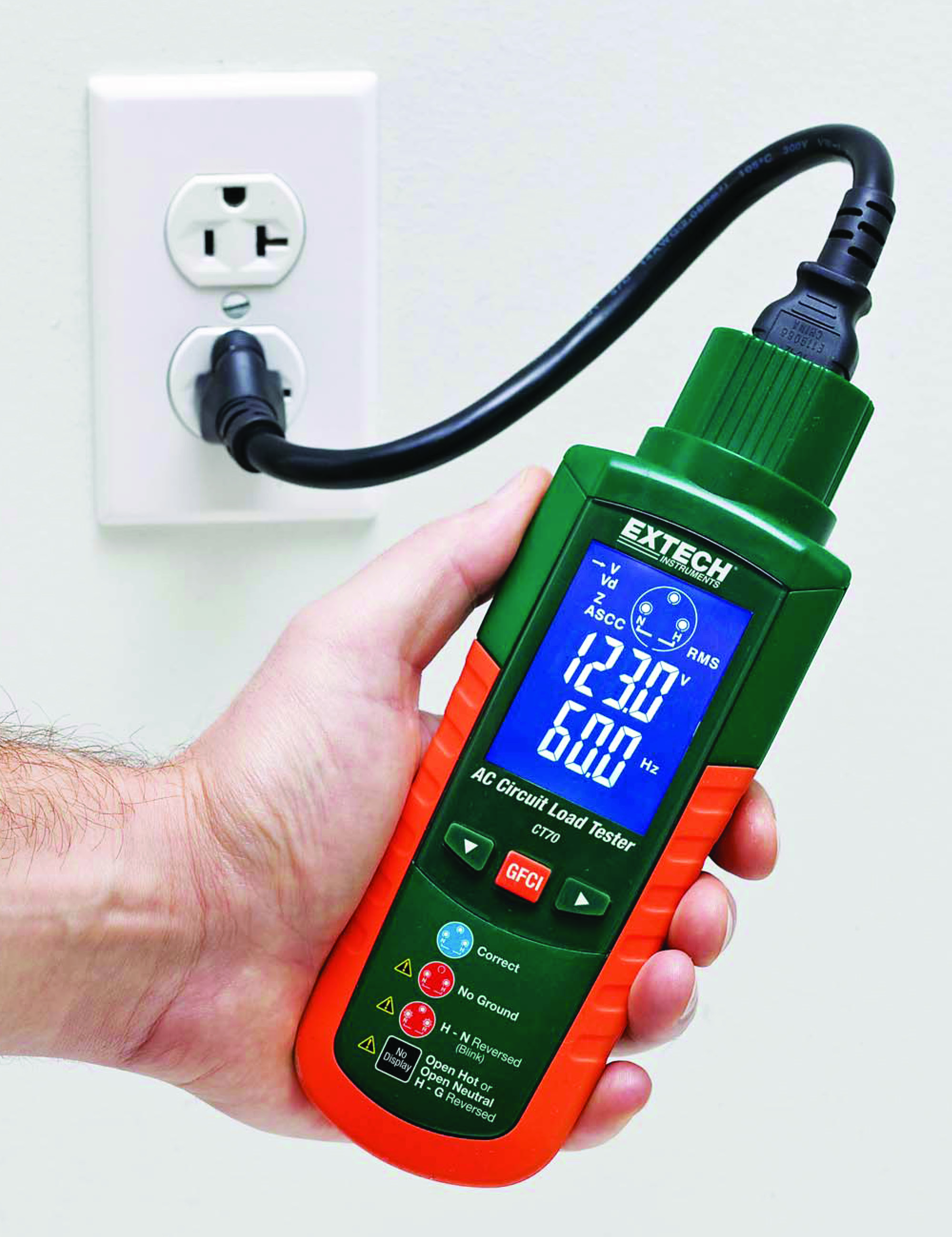 New Extech Ct70 Delivers Rapid Analysis Of Outlet Circuit Wiring A Ac Load Testerideal For Up Selling Gfci And Epd Repairs