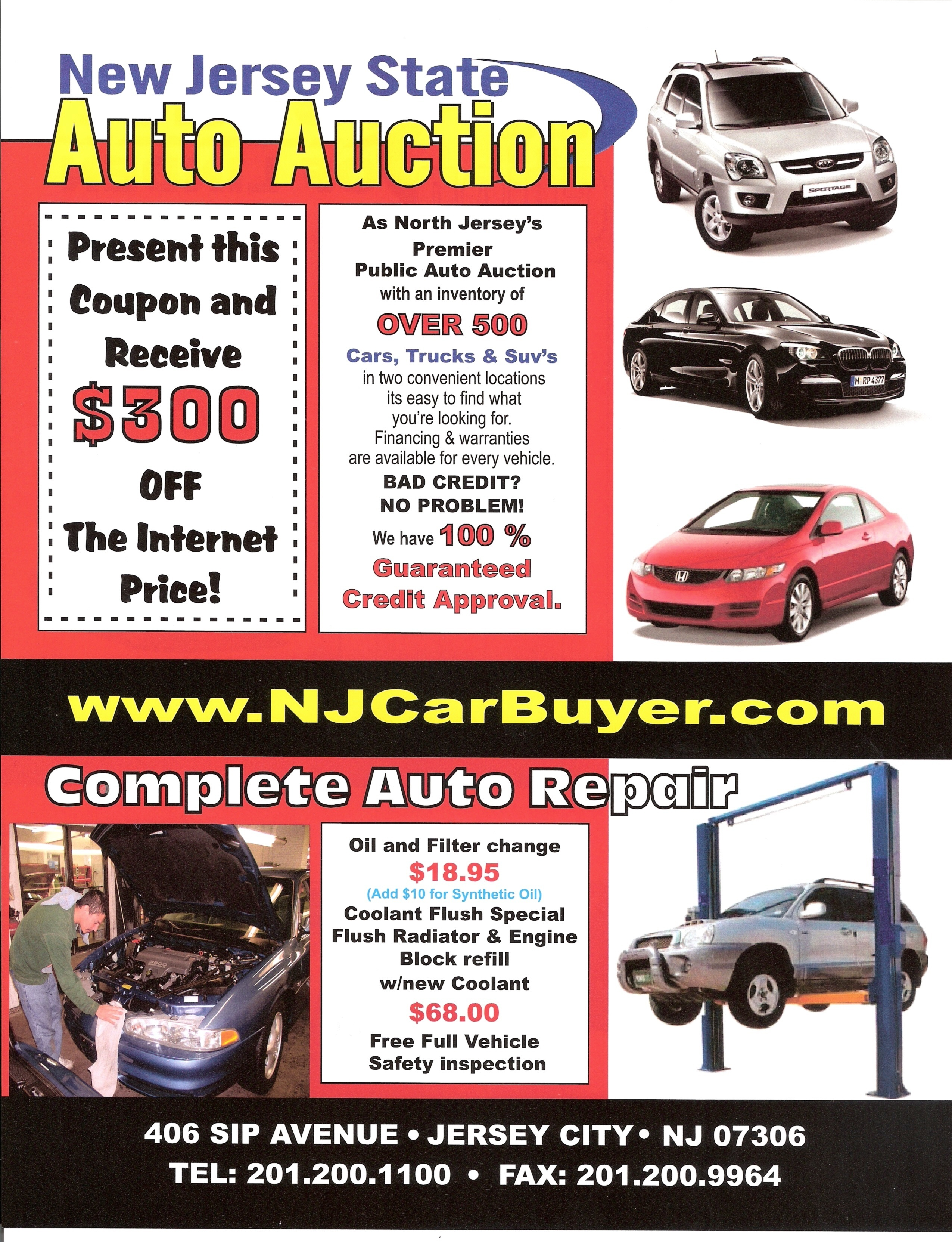 New Jersey State Auto Auction Be es an AskPatty Certified