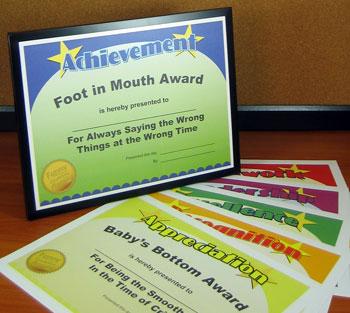 Funny Teacher Awards – Printable Award Certificates for ...