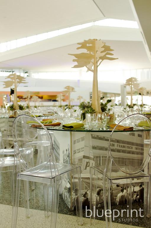 Blueprint studios helps make new san francisco airport terminal blueprint studios san francisco floral design sfo terminal 2 gala dining table design and decor by blueprint studios malvernweather Images