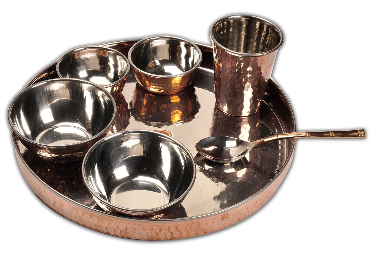 Copper Dinnerware Set for Indian Foods recipes and cuisine  sc 1 st  Online Press Release Distribution Service & ShalinIndia Launches Copper Dinnerware for Holding Indian Theme Parties