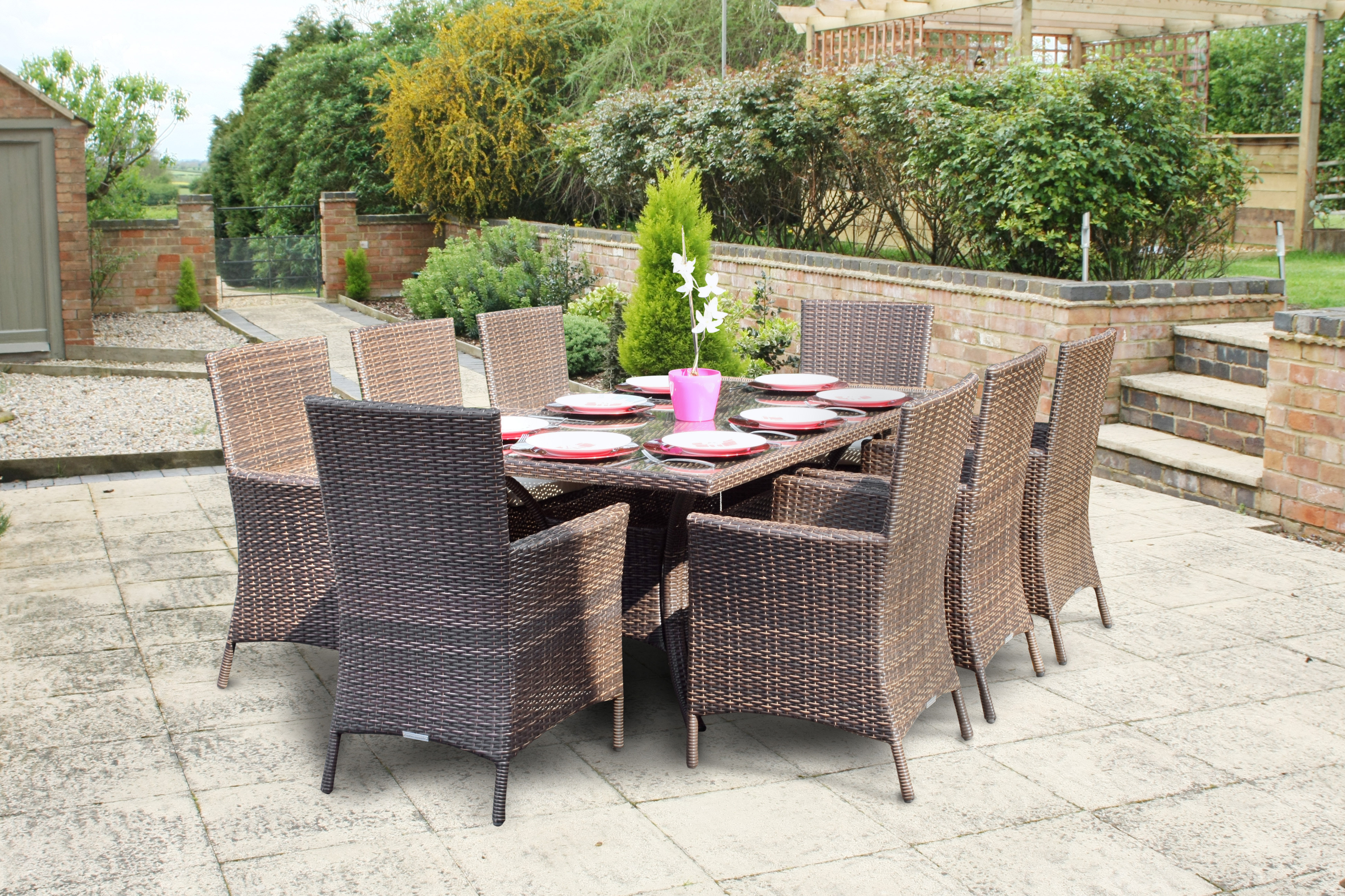 Superior Rattan Table And Chair Set Part - 3: Wovenhill Are Proud To Supply Itn News With Rattan Garden