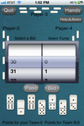 Play Dominos 42, AKA Texas 42, in 3D like a card game