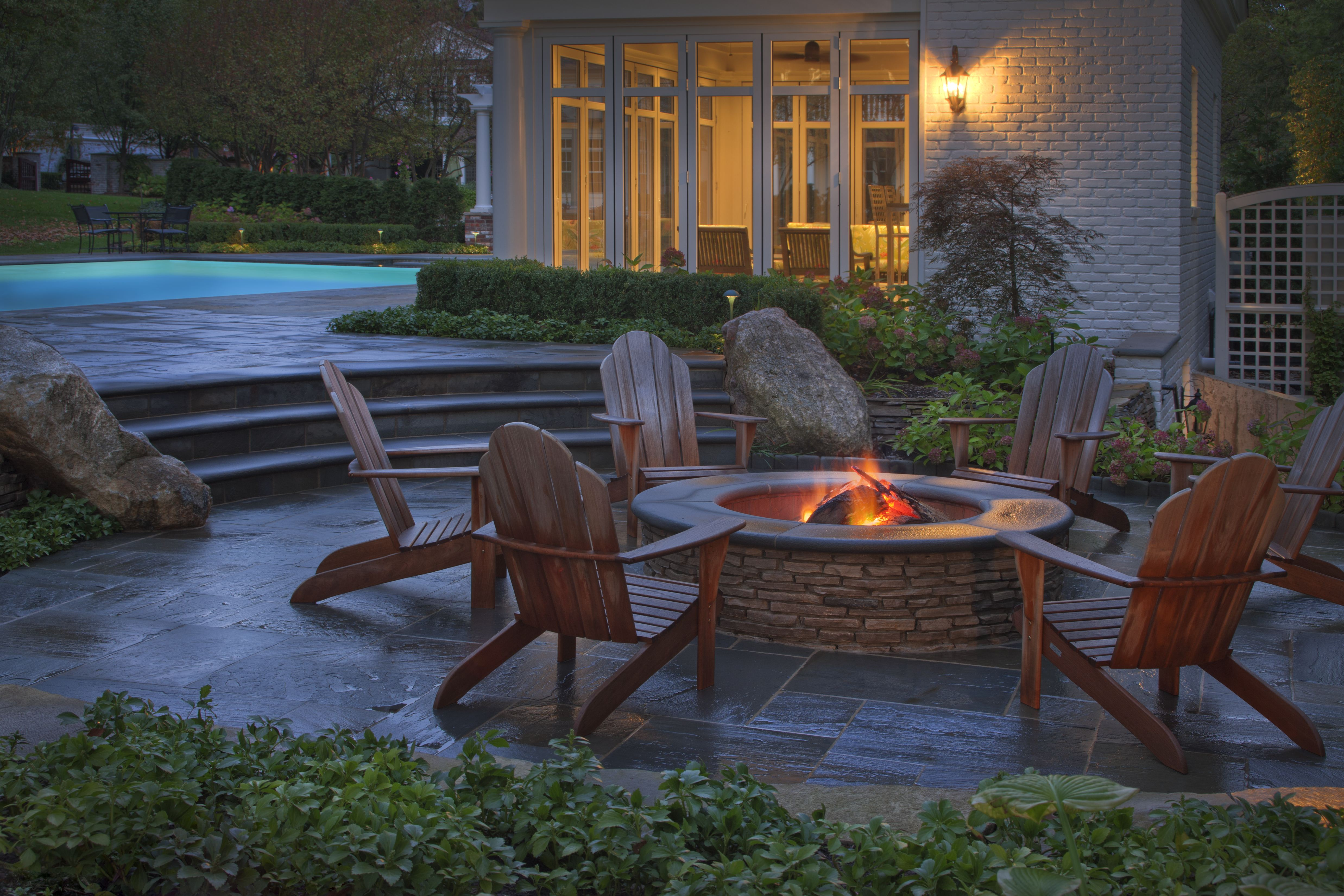 New Backyard Landscaping Information Offers Design Ideas ... on Garden Ideas With Fire Pit id=70939
