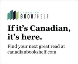 Canadian Bookshelf logo. Find great Canadian reads.