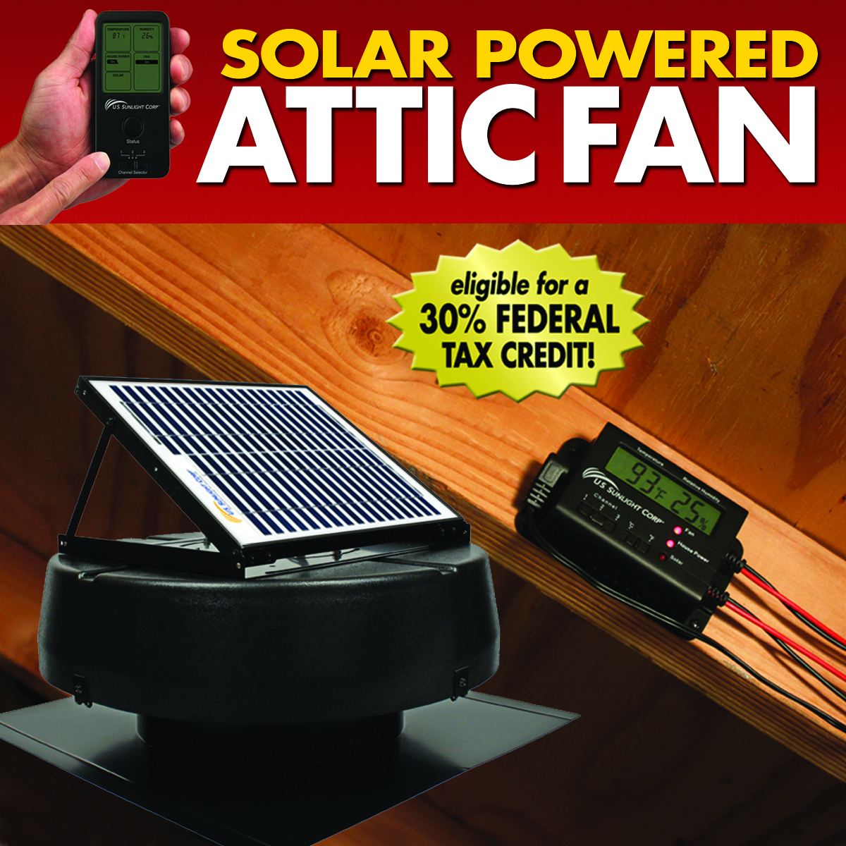 U S Sunlight S Solar Attic Fan And Skylight Tube