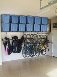 A Garage Makeover Using Monkey Bars Storage Systems To Maximize E