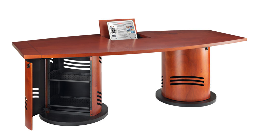 AVTEQ Reveals Conference Tables And Communications Pedestals - Pedestal conference table
