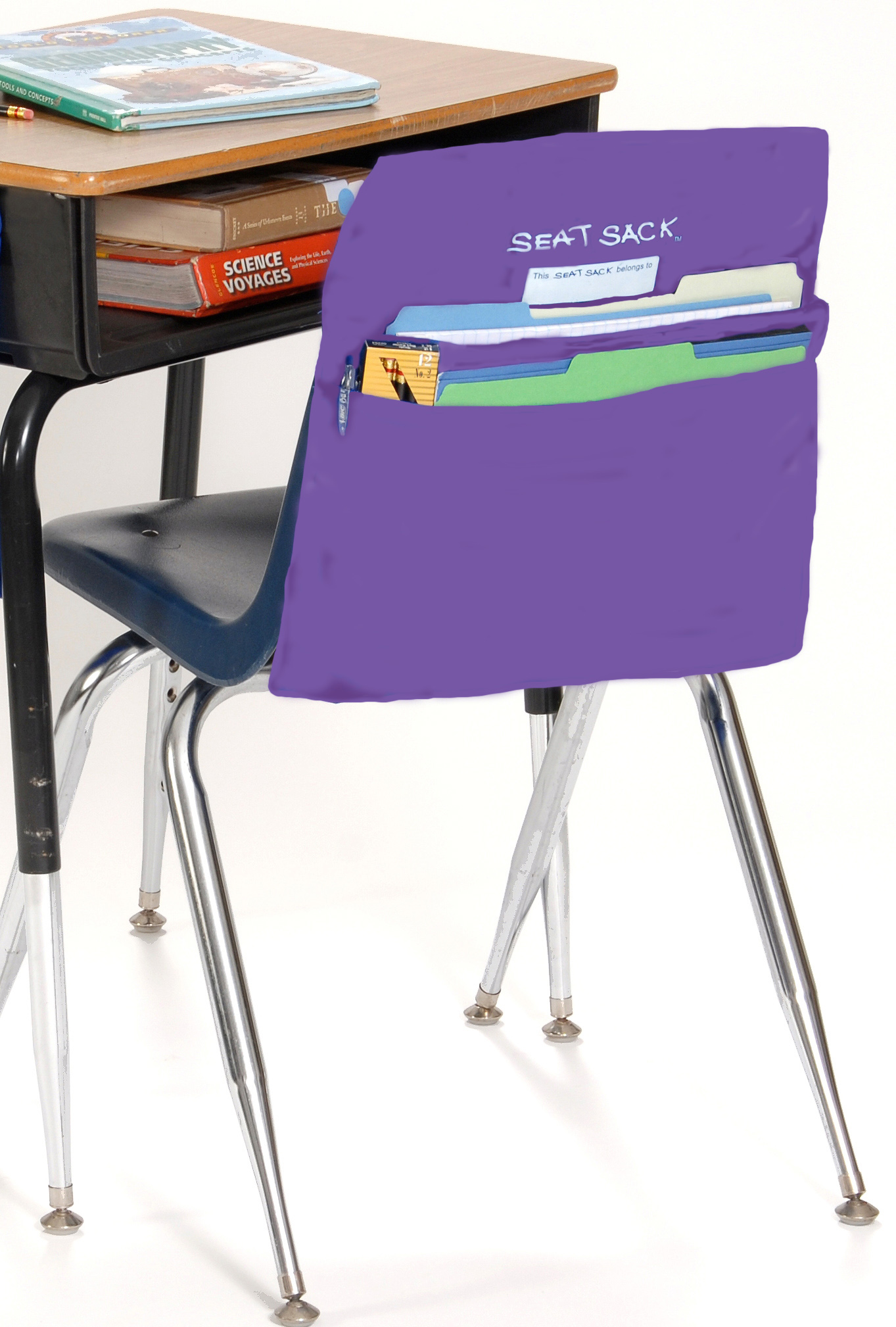 Back To School Desk Organizer Royally Purple Seat SackSeat Sack Chair  Pocket Organizer In Royal Purple