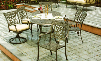 Castelle Pride Wrought Iron Outdoor Furniture Is Available At Aminiu0027s