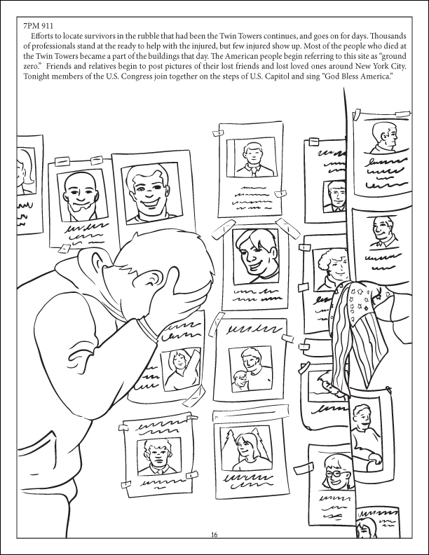 We Shall Never Forget 9 11 The Kids Book Of Freedom Graphic Novel Coloring Book Parental Guidance Is Suggested