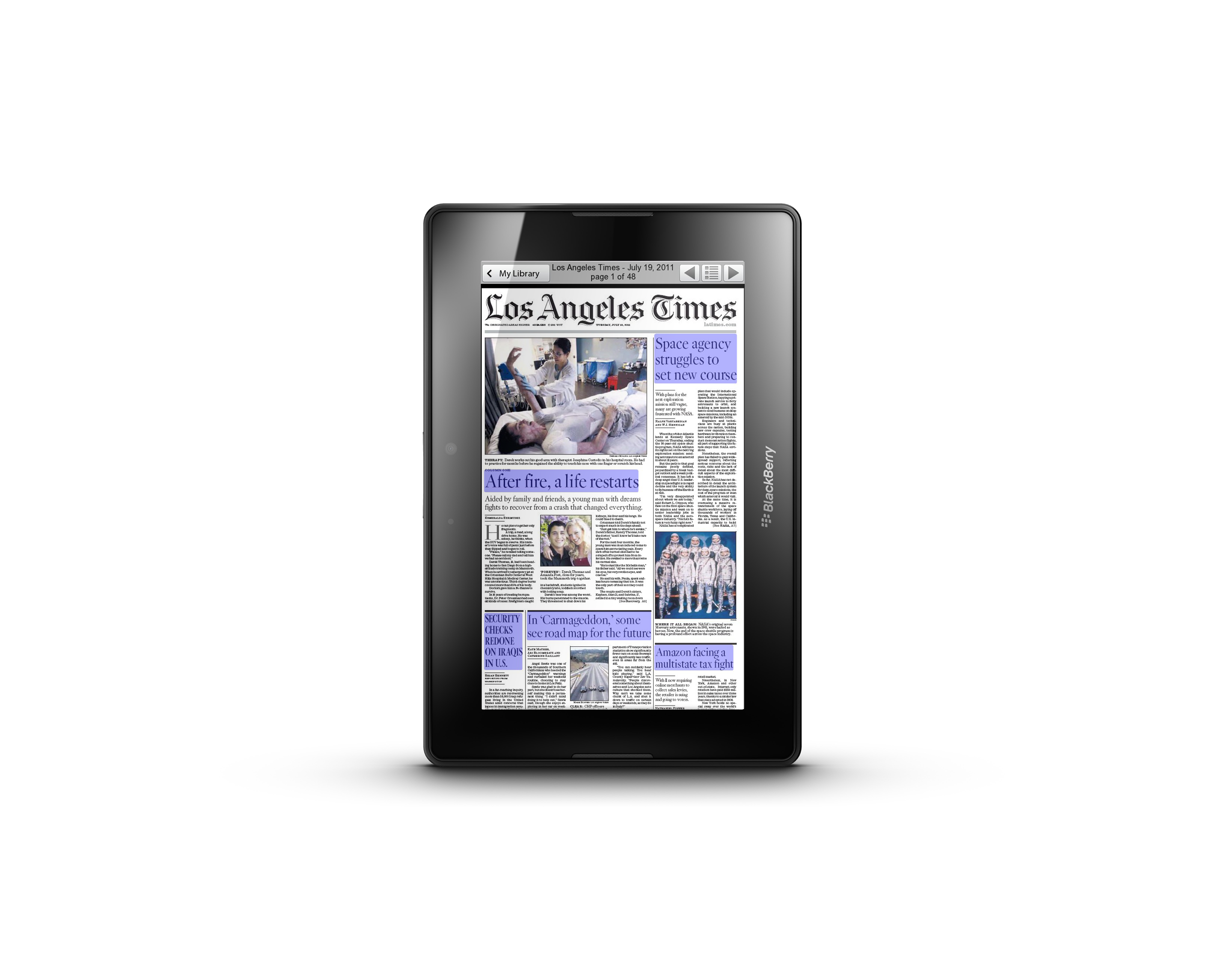 New PressReader for BlackBerry PlayBook Brings World's Top