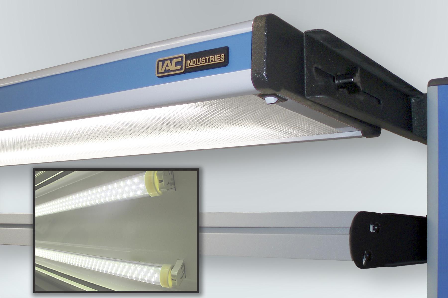 Led Light Bench : Iac industries introduces led workstation adjustable