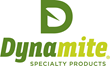 Dynamite corporate logo, all-natural horse feed, dog food