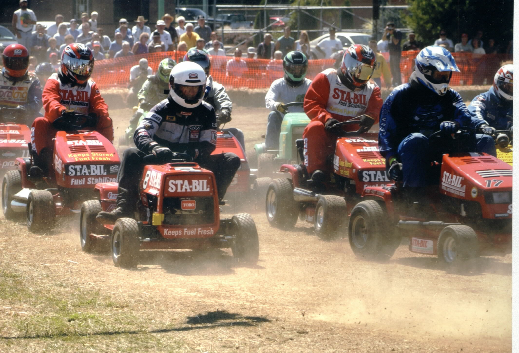 Lawn Mower Racing >> Firehouse Moustache Wax and STA-BIL Mower Racing Series
