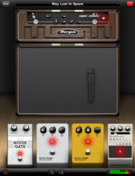 AmpKit iPad, Fargen Super Collider, Sonic Edge J&J Overdrive and Tumbleweed effects pedals