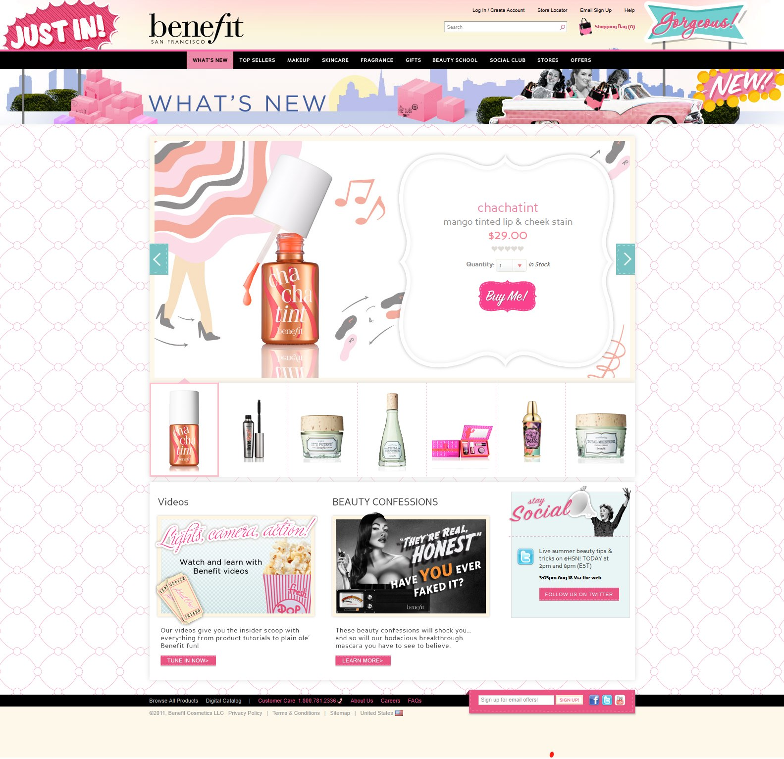 Benefit Cosmetics Partners with Fluid to Create a Playful