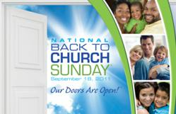 National Back to Church Sunday - Sept 18th
