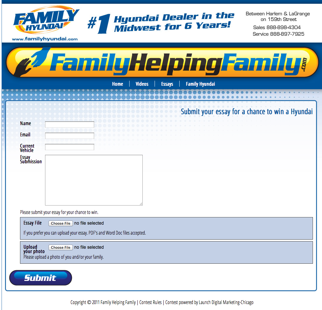 Family Hyundai Helping FamiliesFamily Hyundai Is Having A Contest To Help A  Family In The Tinley Park Area. Family Hyundai Chicagoland Contest
