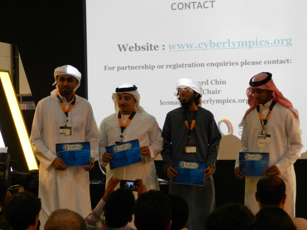 Cyberlympics prizes for games