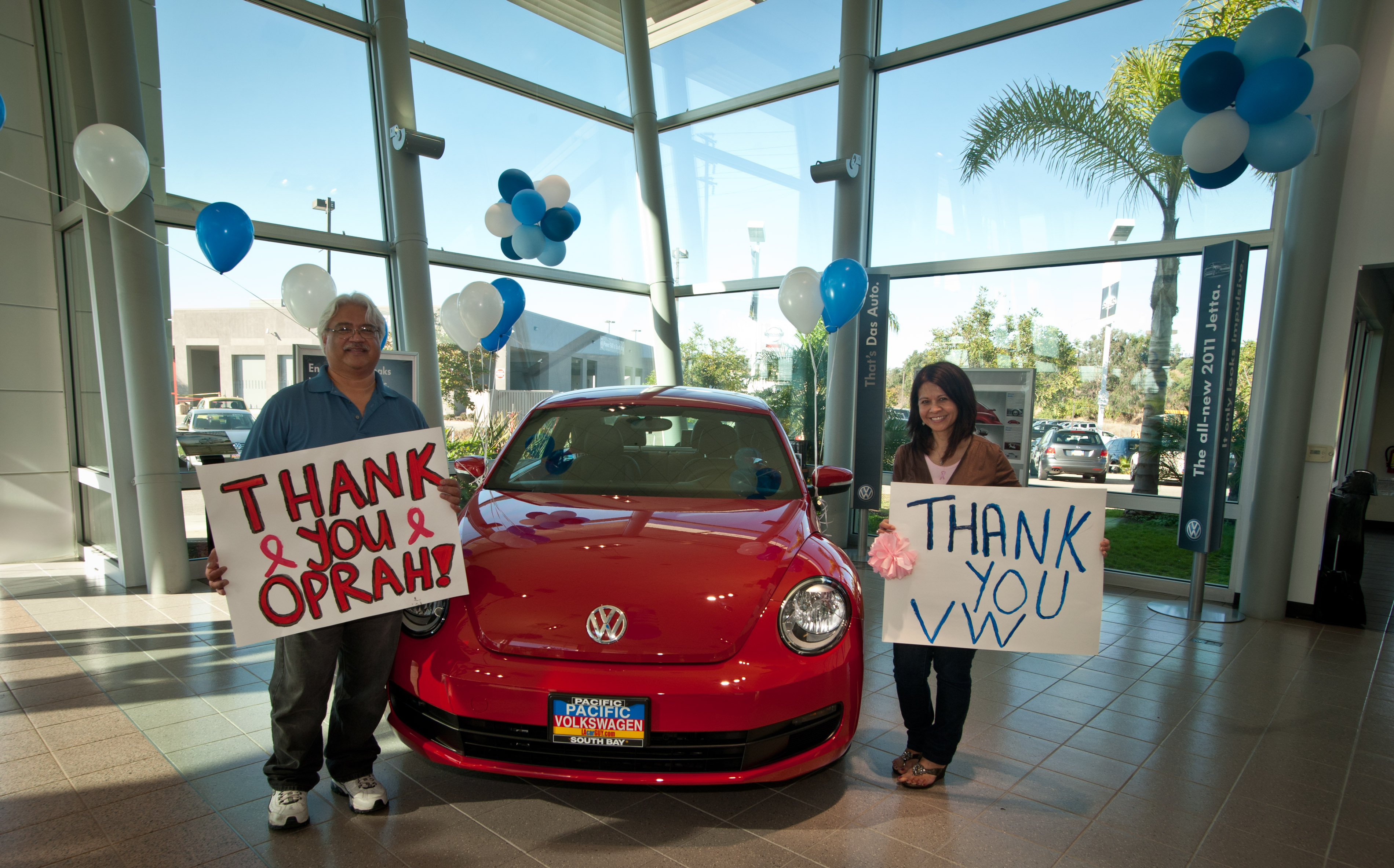 Local Community Heroes Receive their 2012 New Beetle from Oprah and