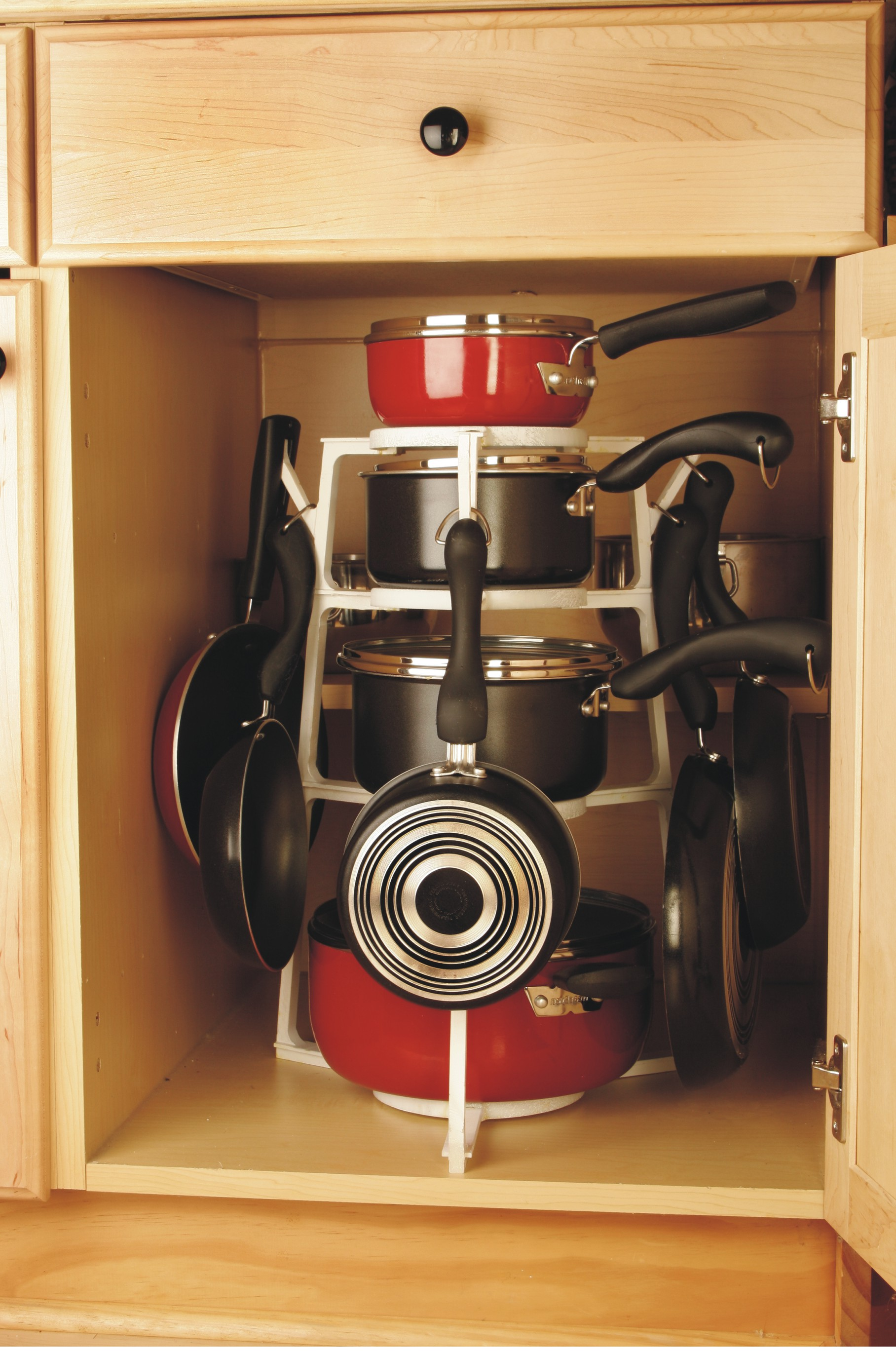 CABINETS BEFORE PANTREEHere Is An Example Of What Most Base Kitchen Cabinets  Look Like. YOUR CABINETS WITH A PANTREE COOKWARE ORGANIZER