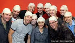 Employees from Small Army, the Boston advertising agency that founded Be Bold, Be Bald! dons their bald caps to honor agency co-founder, Mike Connell, who lost his battle to cancer in 2007.