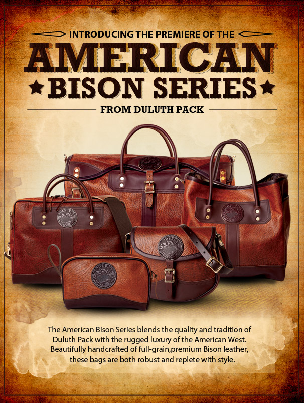 Duluth Pack American Bison Colletionamerican Bags