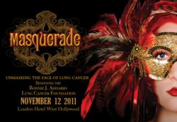 """SoHo Project Presents """"Masquerade – Unmasking the Face of Lung Cancer"""" Benefiting the Bonnie J. Addario Lung Cancer Foundation – November 12th 2011"""