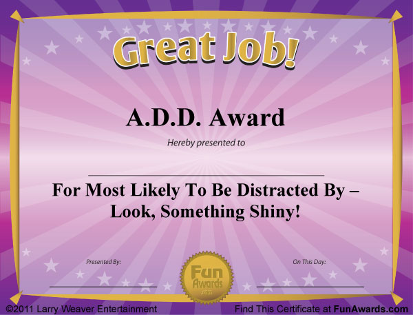 funny award certificates  u2013 101 funny awards to give