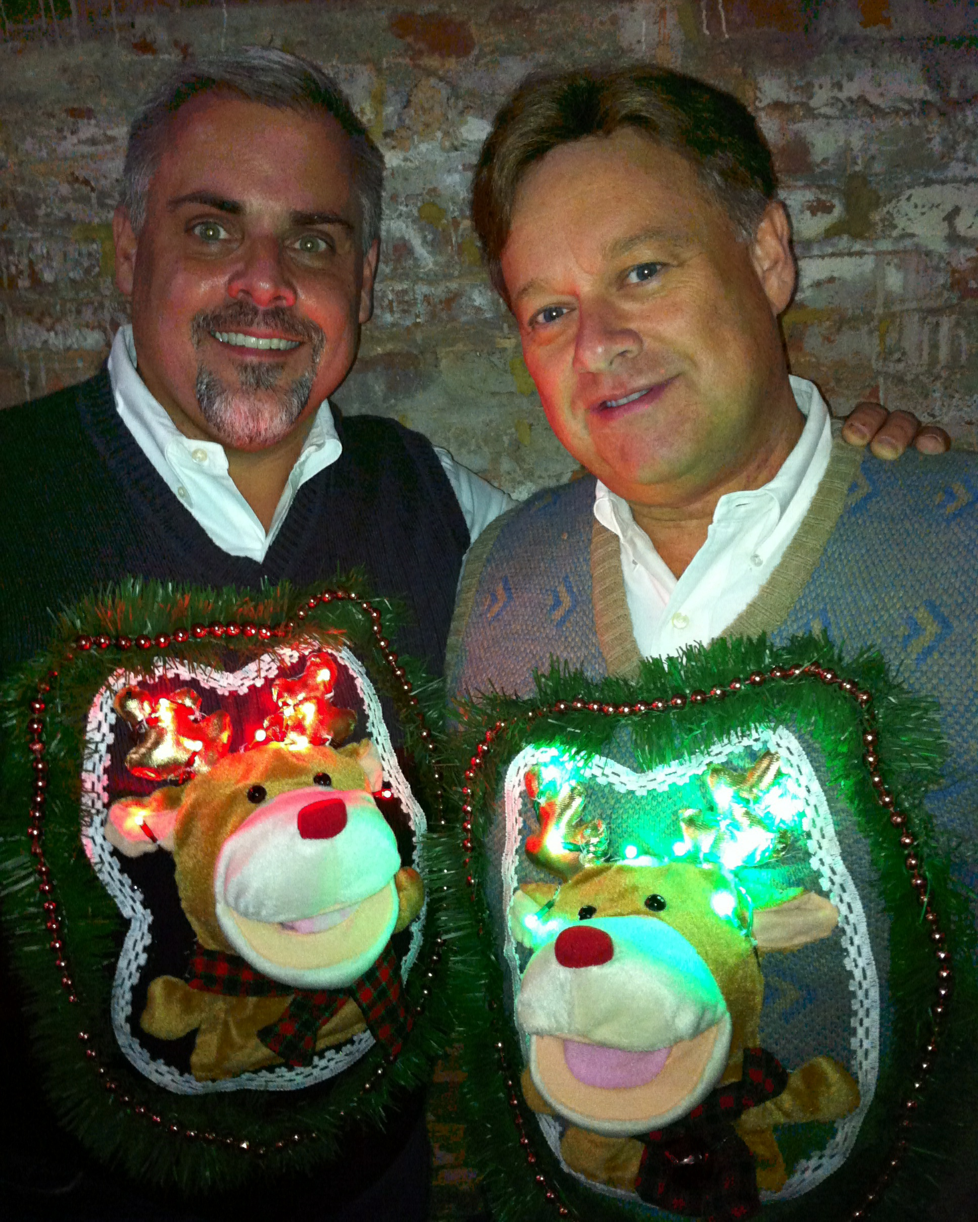 light up the party with 3d reindeer sweaters with lights from my ugly christmas sweater inc