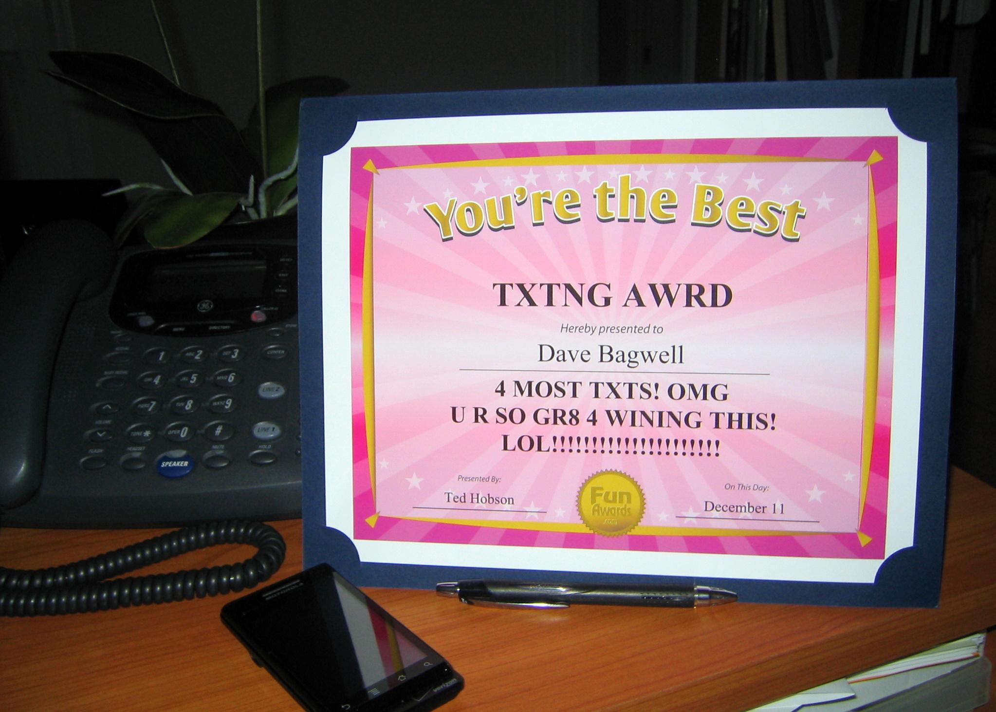 funny staff awards  u2013 fun awards announces sale to rescue