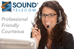 Image of an employee at Sound Telecom providing telephone answering services, medical answering services, virtual receptionist services, secure messaging services, pager services, bilingual answering services, and multilingual answering services