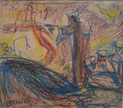 Untitled, c.1957, by Crayon on wove paper