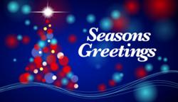 'Seasons Greetings' company Christmas e card from Katie's Cards