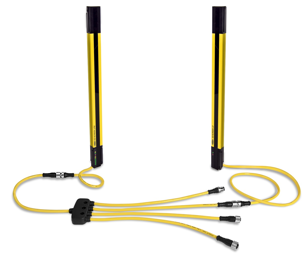 EZ SCREENR Low Profile Safety Light Curtain With Integral Muting