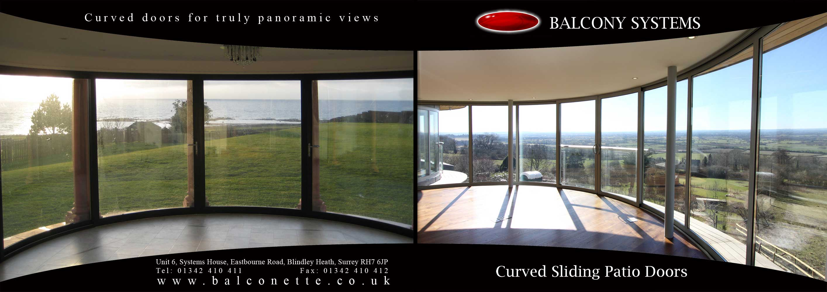 Curved Sliding Glass Patio Door Complements Listed Building
