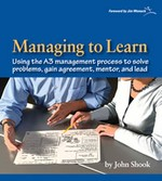 A3 management helps managers solve problems, gain agreement, mentor, and lead.