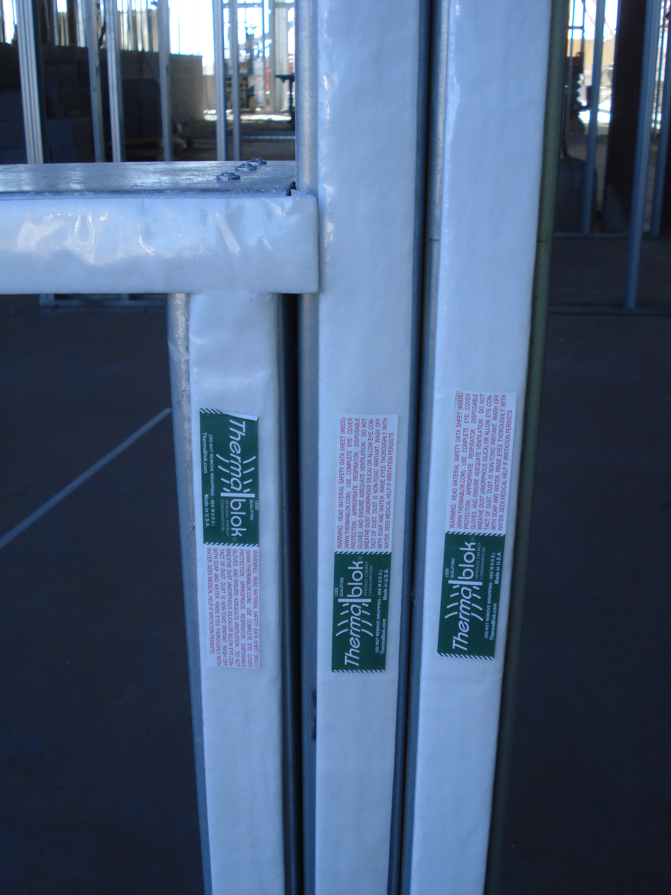 Thermablok® Aerogel Insulation Strips installed in New