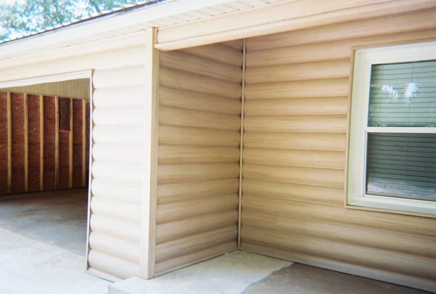 Faux Log Cabin Siding A New Exterior Home Design Option