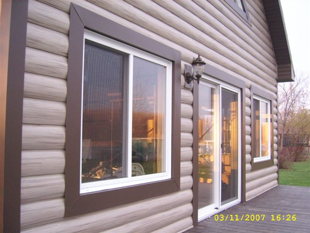 Faux Log Cabin Siding A New Exterior Home Design Option