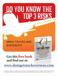 "Flyer art for the book, ""The Top Three Risks"""