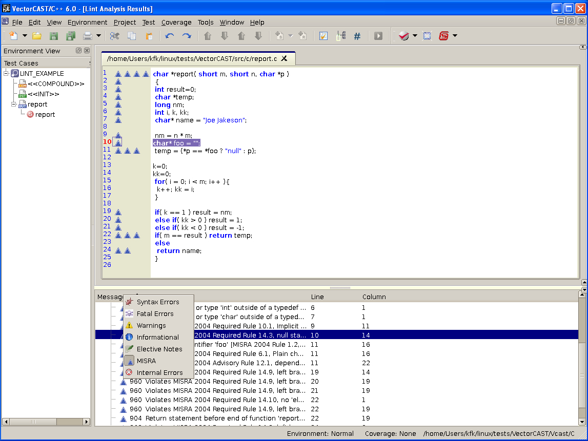 vector software adds fully integrated static source code