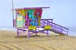 "Portraits of Hope ""Summer of Color"" Lifeguard Tower, Los Angeles"